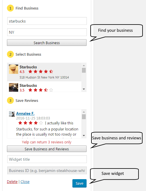 Yelp Reviews App   Website Design Agency